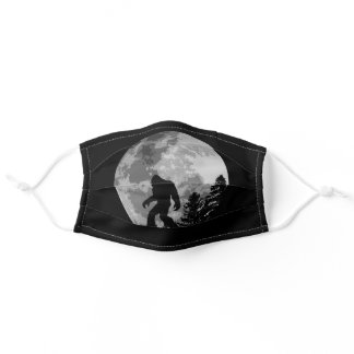 Bigfoot in the moonlight adult cloth face mask