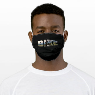 Bike Font With Cyclist Adult Cloth Face Mask