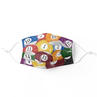 Billiard Balls collection Adult Cloth Face Mask