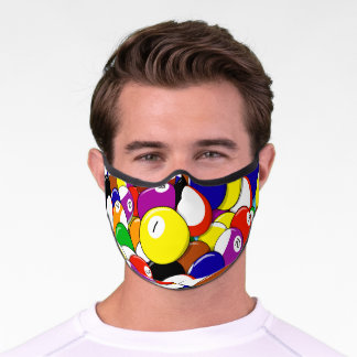 Billiards Abstract Pattern Premium Face Mask