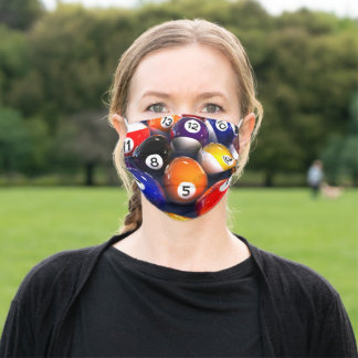 Billiards Pool Balls Face Mask