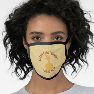 Black All Over Cotton & Poly Blend Facemask ASK ME Face Mask