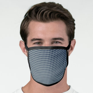 Black All Over Poly Blend Facemask Face Mask