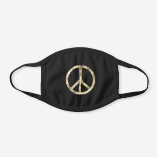 Black and gold peace sign mask