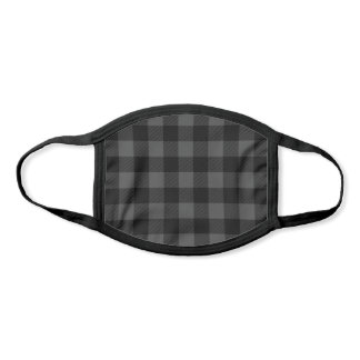 Black and Gray Buffalo Check Pattern Face Mask
