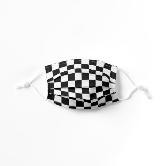 Black and White Checkered Racing Flag |  Kids' Cloth Face Mask