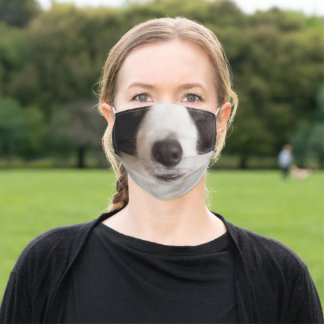 Black and White Dog Adult Cloth Face Mask