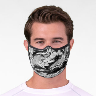 Black and white ink premium face mask