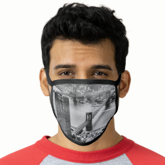 Black and White New York City Face Mask