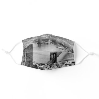 Black and White New York Landscape Adult Cloth Face Mask