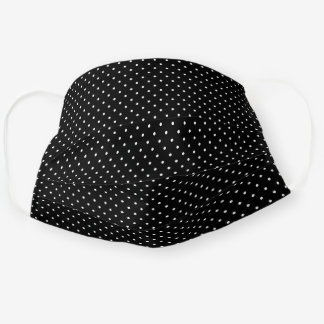 Black and White Tiny Dots Pattern Cloth Face Mask