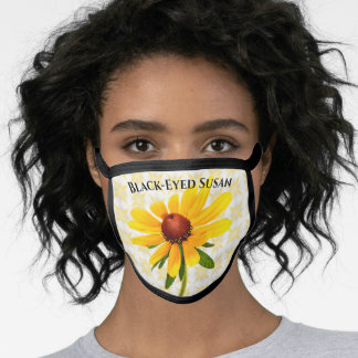 Black-Eyed Susan Floral Photography Wildflower Face Mask