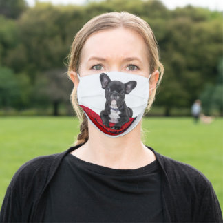 Black French Bulldog Face Mask For Her