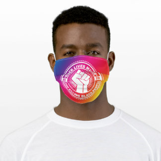 Black Lives Matter 2020 Rainbow Fist Adult Cloth Face Mask