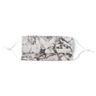 Black Marble Texure Pattern Dark Grey Adult Cloth Face Mask
