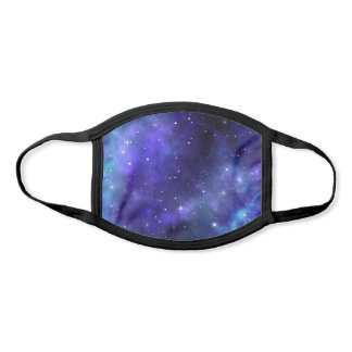 Black Purple Blue Stars Watercolor Cloth Galaxy Face Mask