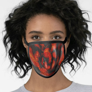 Black Red Boa Face Mask