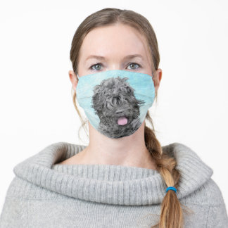 Black Russian Terrier Painting - Cute Original Dog Adult Cloth Face Mask