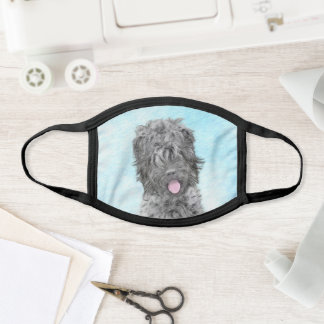 Black Russian Terrier Painting - Cute Original Dog Face Mask