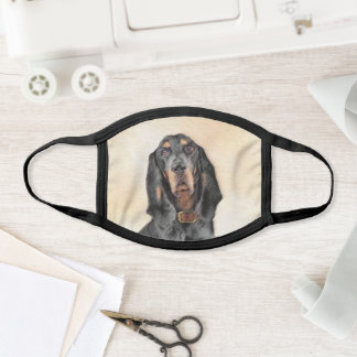 Black & Tan Coonhound Painting - Original Dog Art Face Mask