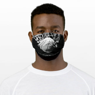 Black White Motivational Quote Basketball Adult Cloth Face Mask