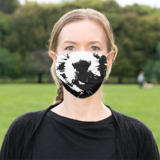 Black & White Squirrel Pop Art Face Mask