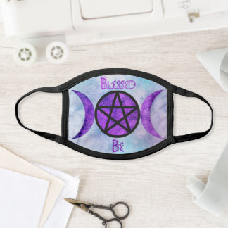 Blessed Be Wiccan Custom Cloth Mask