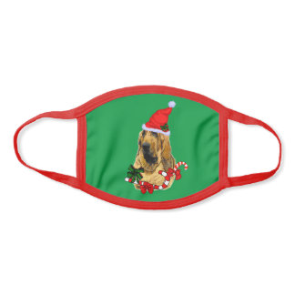 Bloodhound Christmas Face Mask