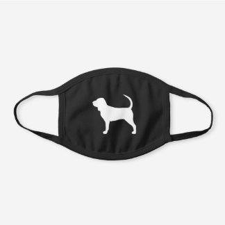 Bloodhound Dog Breed Silhouette Black Cotton Face Mask