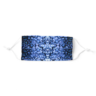 Blue abstract gemstone pattern adult cloth face mask