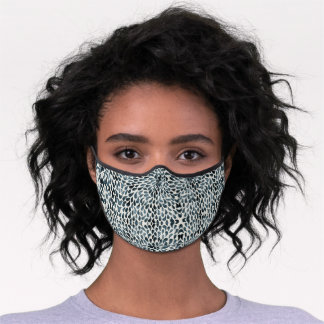Blue Abstract Pattern Premium Face Mask