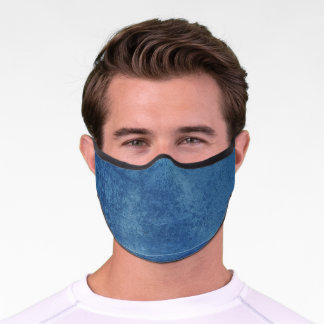 Blue Abstract Premium Face Mask