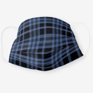 Blue And Black Plaid Men's Cloth Face Mask