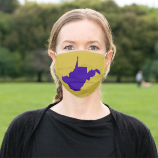 Blue and Gold West Virginia Adult Cloth Face Mask