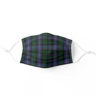 Blue and Green Clan Galbraith Tartan Plaid Cloth Adult Cloth Face Mask