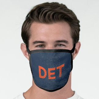 Blue and Orange Sports Team Colors Facemask Face Mask