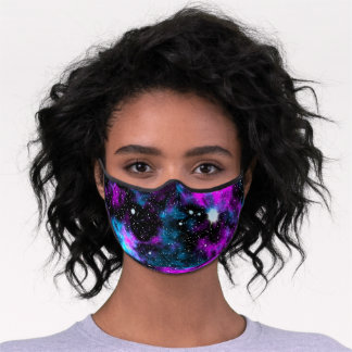 Blue and Purple Galaxy Celestial Cosmic Space Premium Face Mask