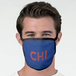 Blue and Red Sports Team Colors Facemask Face Mask