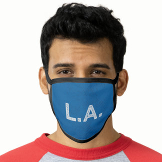 Blue and White Sports Team Colors Facemask Face Mask