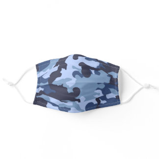 Blue Camo Adult Cloth Face Mask