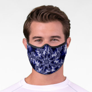 Blue Frost Pattern Premium Face Mask