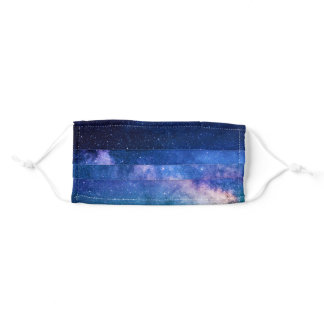 Blue Galaxy Galactic Adult Cloth Face Mask