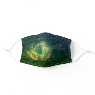 Blue Green Milky Way Galaxy Nebula Cloud Space Adult Cloth Face Mask