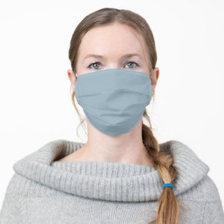 Blue Grey Solid Color Cloth Face Mask