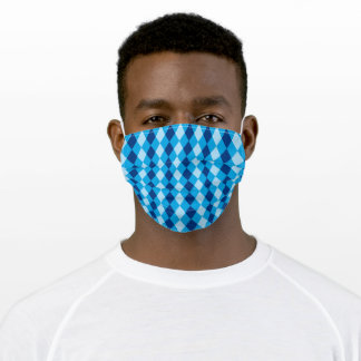 Blue Harlequin Adult Cloth Face Mask