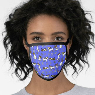 Blue Jack Russell Terrier Face Mask