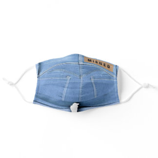 Blue Jeans - Migned - Add Your Text / Brand /Name Adult Cloth Face Mask