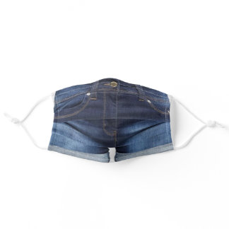 Blue Jeans - Trendy Denim - Funny - Adult Cloth Face Mask