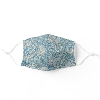 Blue Marigolds (by William Morris) Adult Cloth Face Mask