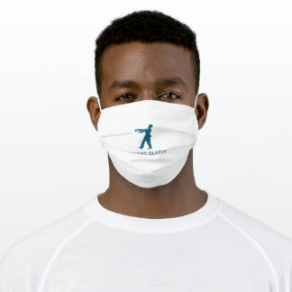 Blue Minimal Funny Youth Adult Cloth Face Mask